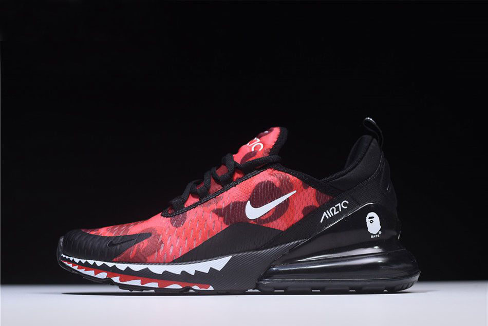 3d4fe663607 A Bathing APE x Nike Air Max 270 Red Camo Men s Size AH6799-016