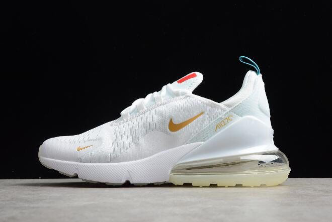 check out 02480 17eef Nike Air Max 270 Flyknit FIFA World Cup French Champion White Gold  AH8050-119