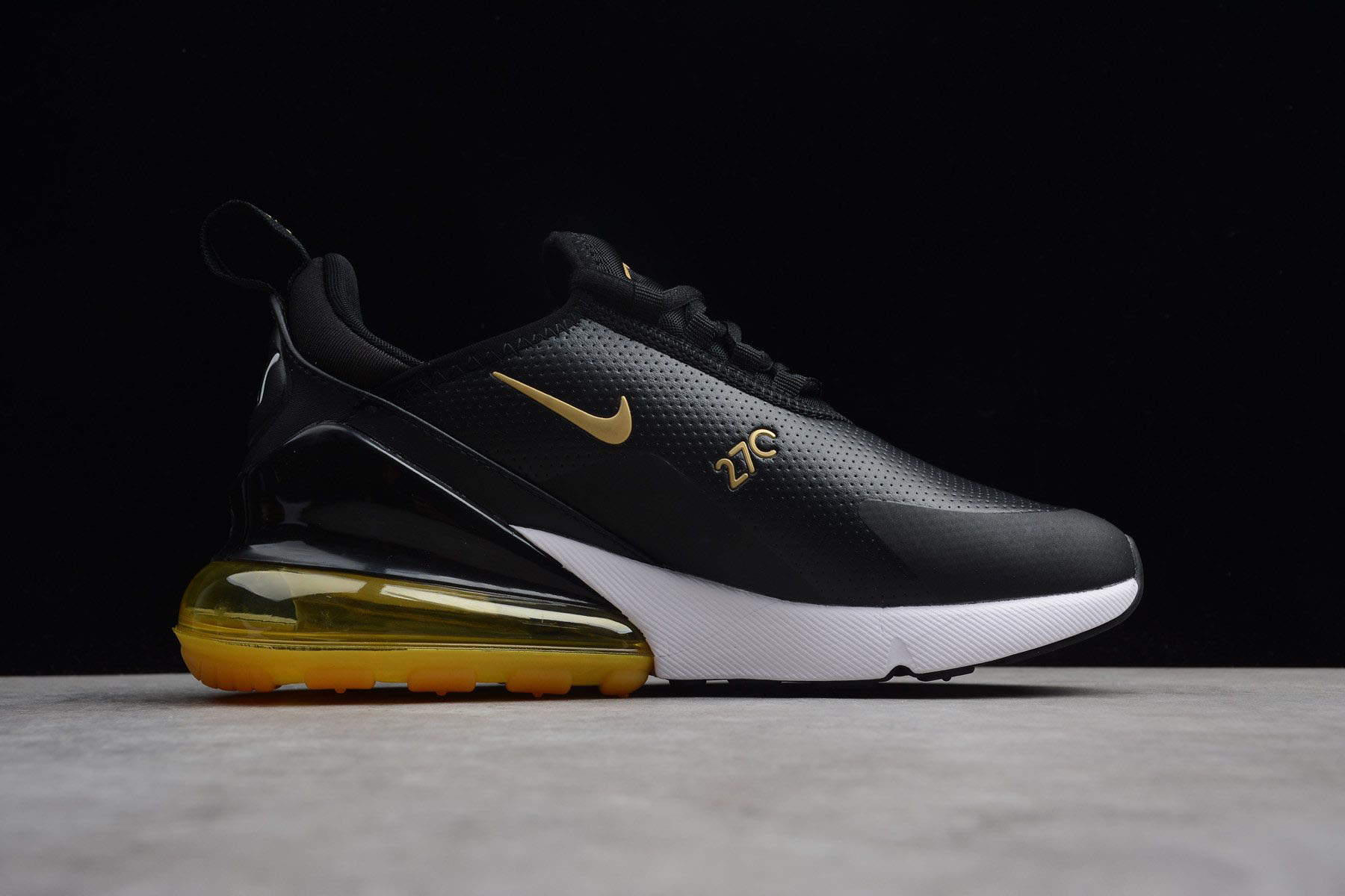 Nike Air Max 270 Premium BlackYellow White For Sale, Nike