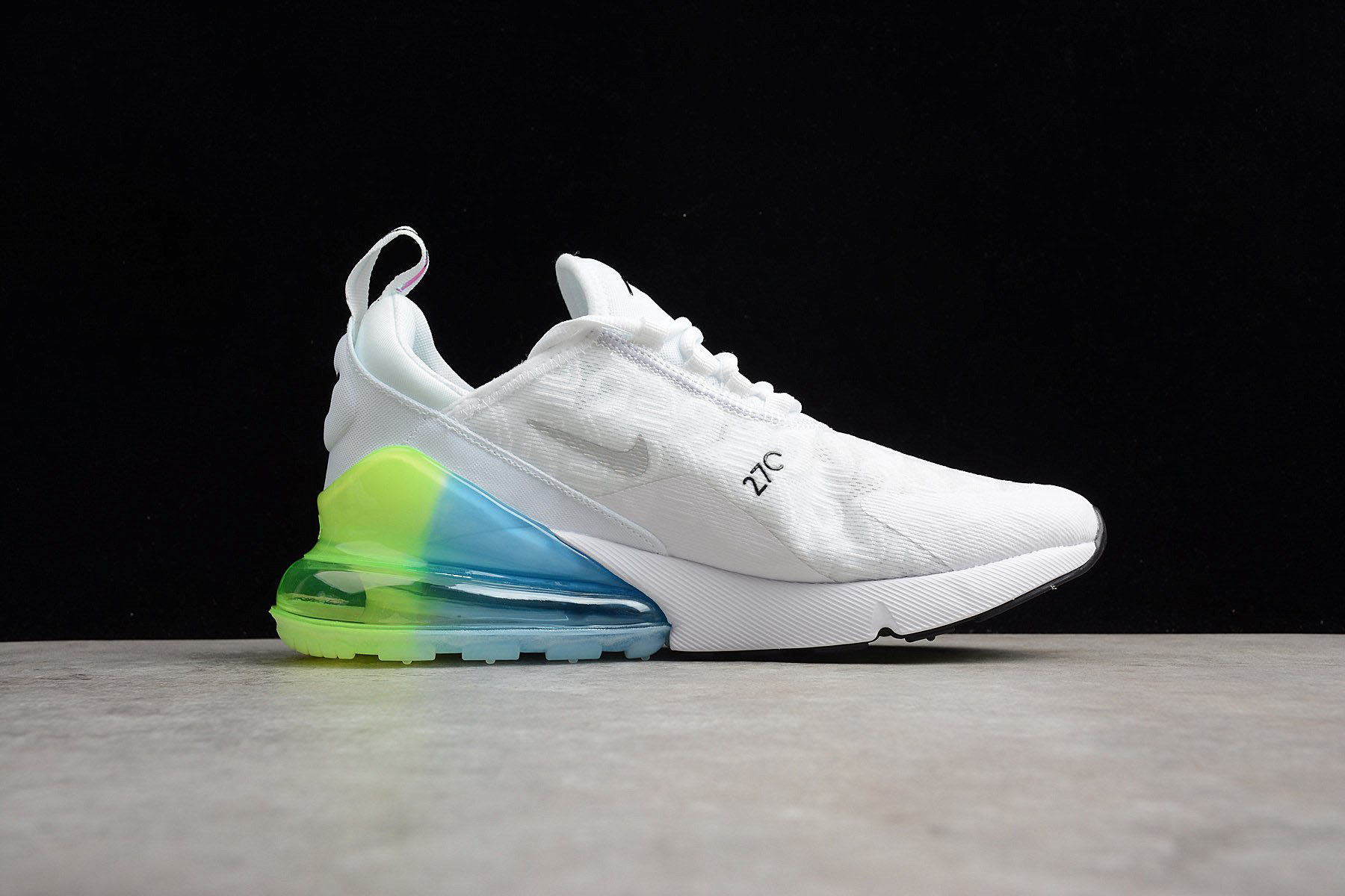 Nike Air Max 270 SE WhiteExplosion Green Yellow AQ9164 100
