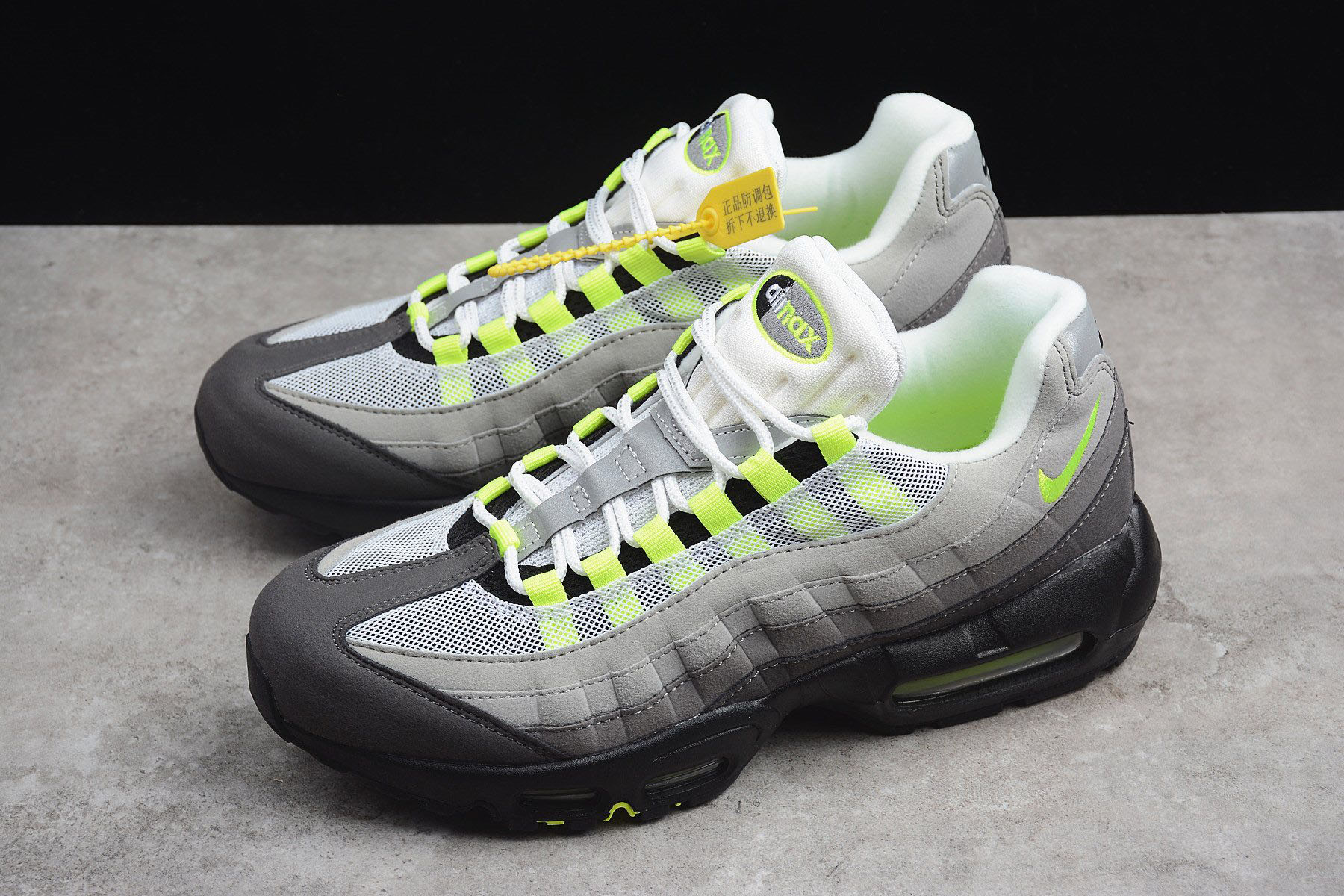 Nike Air Max 95 OG Neon BlackVolt Medium Ash Dark Pewter