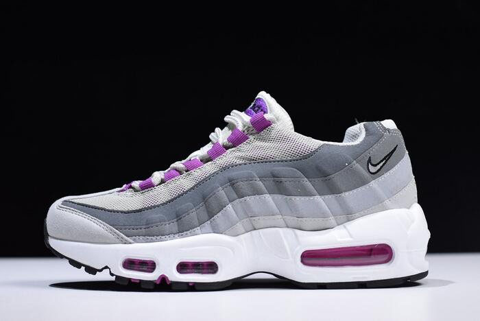 WMNS Nike Air Max 95 Pure PlatinumHyper Violet Wolf Grey