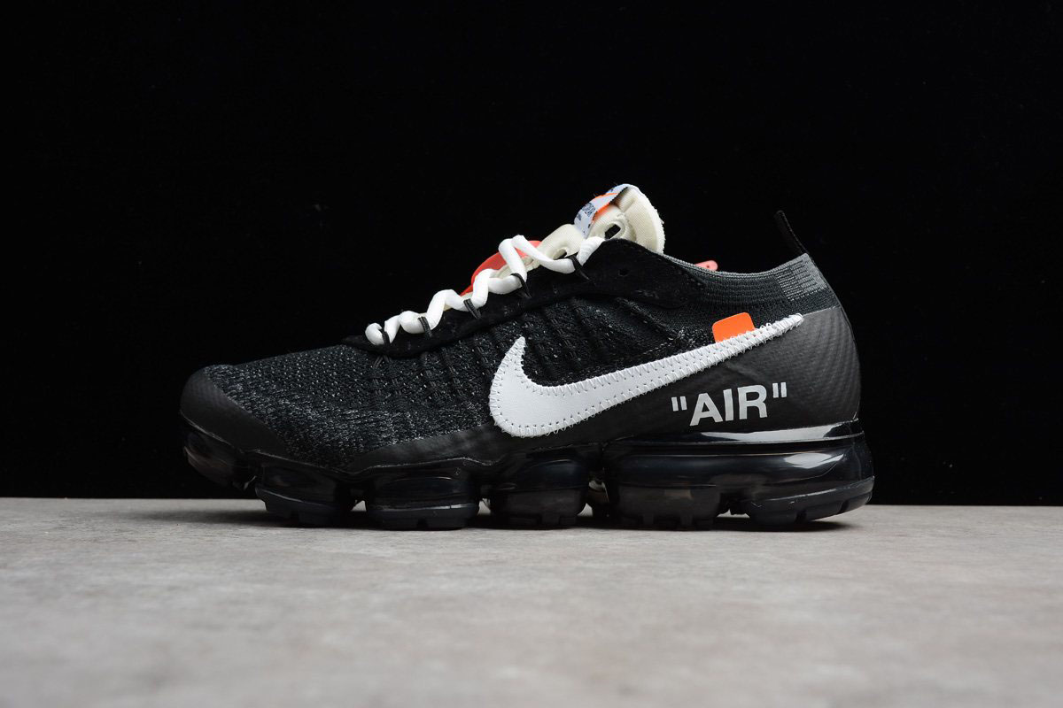 c36f1459412 2018 Virgil Abloh s Nike Air Vapormax FK OFF-WHITE Black White-Clear AA3831