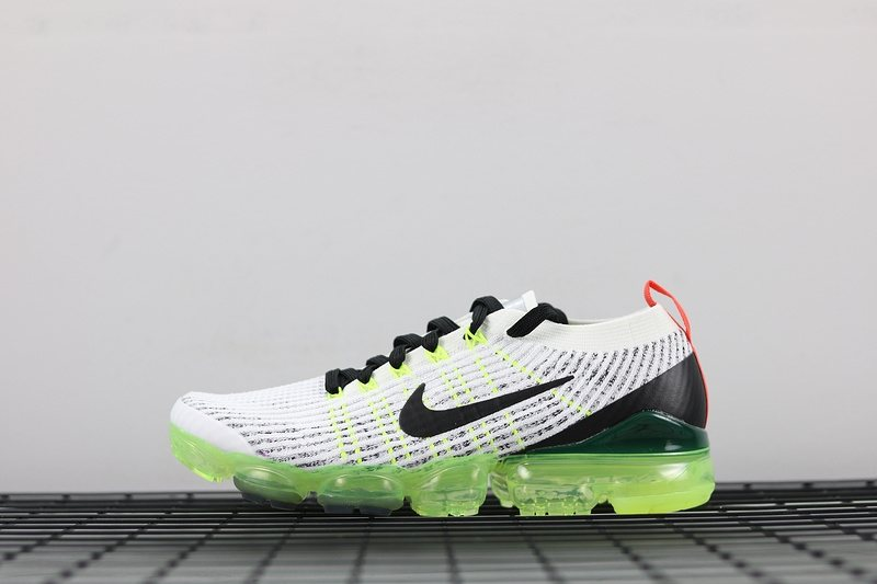 521ff167b4b73 2019 Nike Air VaporMax Flyknit 3.0 White Black-Green Men AJ6900-100 ...