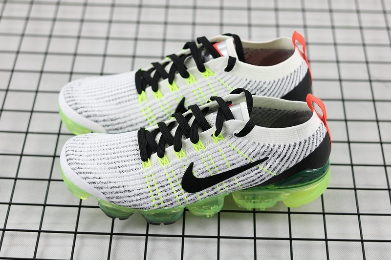 4dd2716230 ... 2019 Nike Air VaporMax Flyknit 3.0 White/Black-Green Men AJ6900-100 ...