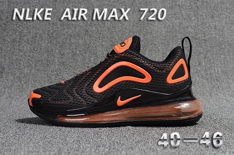 Nike Air Max 720 Kpu Black Orange Men [Nike Shoes 30409